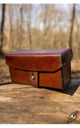 Skórzana torba imperialna - brązowa