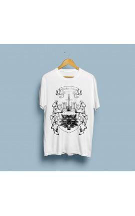 Koszulka Witcher School Szkoła Wilka - biała