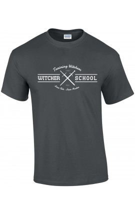 Witcher School T-shirt Slate