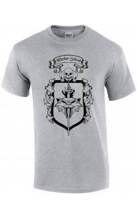 Koszulka Witcher School kot - szara
