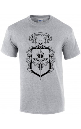 Witcher School grey cat t-shirt