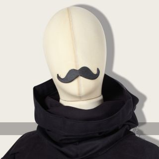 Eranthis tube scarf linen black