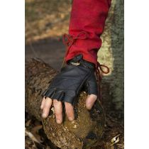 Celtic Gloves Leather - Epic Black S Iron Fortress