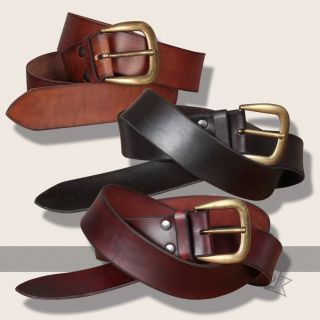 Querkus leather belt, broad