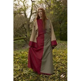 Dress Runa - Dark Red/Dryad Green - 8-10
