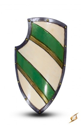 Knight Shield - Green / White