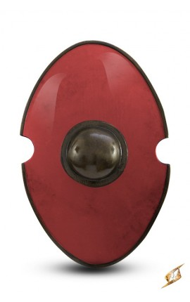 Elliptical Shield Red