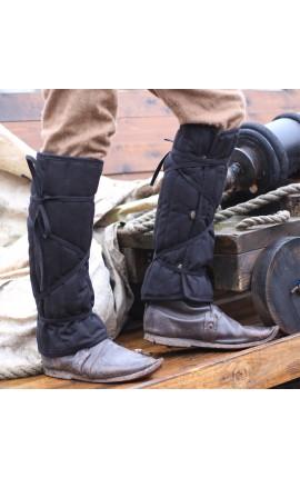 Eisenbrück padded greaves - black - L