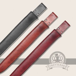 Paeonia leather sheath