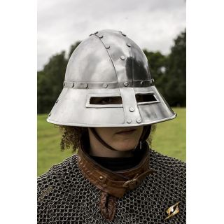 Guardsman Helmet - Polished Steel - M