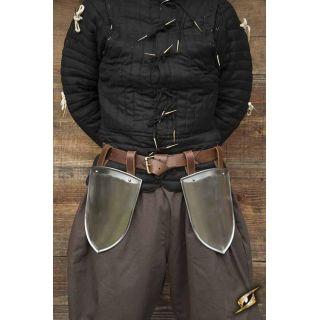 Scouts Belt Shields - Polished Steel