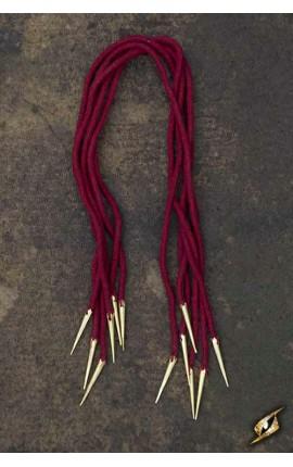Tie Strings w. Points - Dark Red