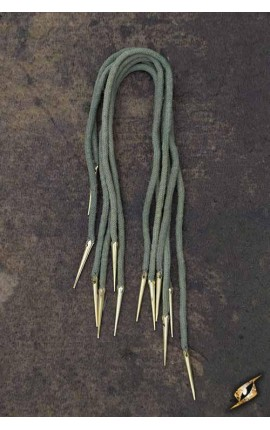 Tie Strings w. Points - Dryad Green