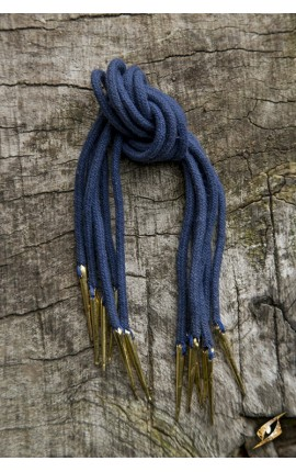 Tie Strings w. Points - Dark Blue