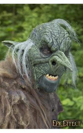 Maska władcy goblinów - Szara z włosami