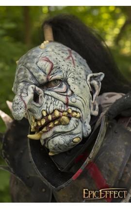 Maska trolla - Szara z włosami