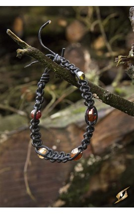 Bracelet with beads - black