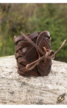 Bransoleta pleciona - brązowa