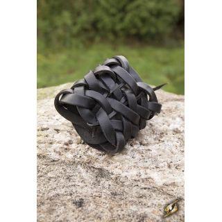 Bransoleta pleciona - czarna