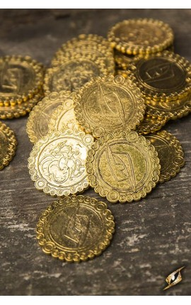 Monety - złoty smok - 30 sztuk