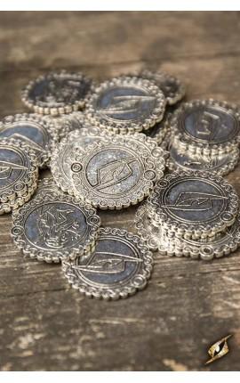 Monety - srebrny lew - 30 sztuk