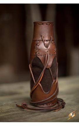 Pokrowiec na butelkę - brązowy