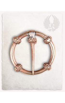 Brosza - pierścień z kwiatami