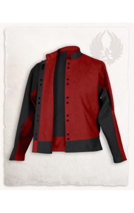 """Canvas Jacket """"Gustav"""" - Black/Bordeaux"""