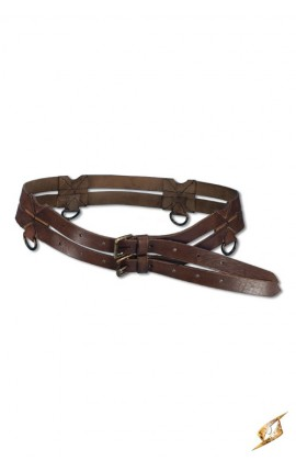 Twin Belt - Brown - 120cm 100803 Iron Fortress