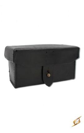 Skórzana torba imperialna - czarna