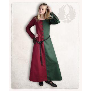 """Suknia """"Helena"""" - Bordowo/Ciemnozielona"""