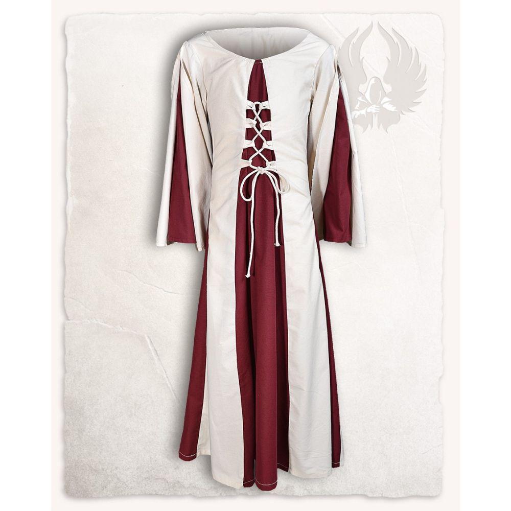 "Dress ""Kirian - Red/Cream"