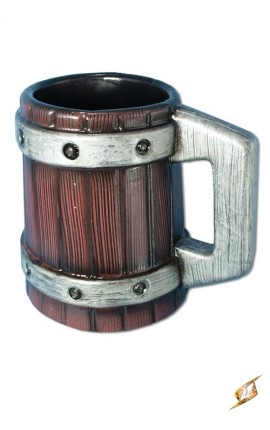 Beermug with metal bands - 20 cm