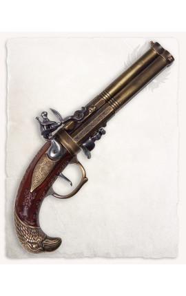 Edward Low three barreled pistole
