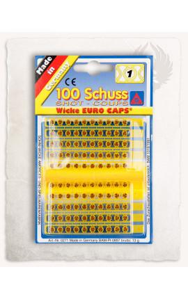 Single shot cap ammunition, 100 pieces