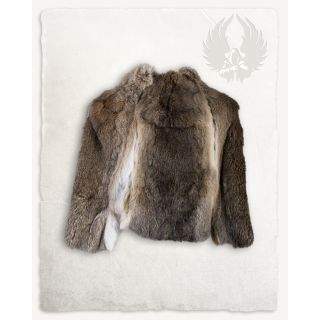 Fur stole Flemish Giant Steel Grey