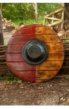 Drang shield - red/wood