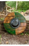 Drang shield - green/wood