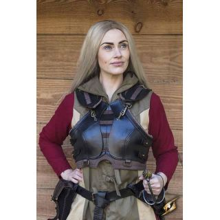 Rogue Female Armour - Black - Brown - M/L