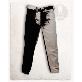 Spodnie Gustav - czarno-zielone