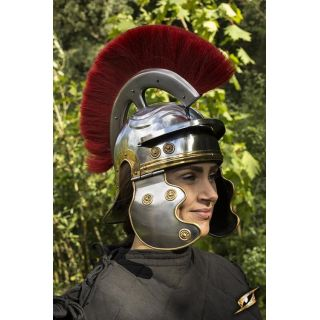 Roman Trooper w. Plume - Red - M