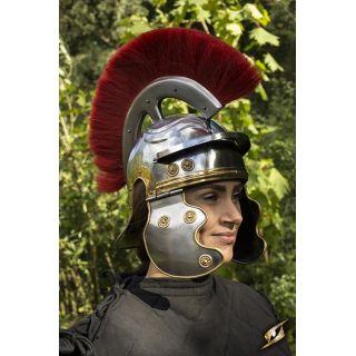 Roman Trooper w. Plume - Red - M