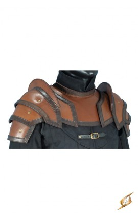 Shoulder Armour & Neck Guard - Br/Bl - L 100308 Iron Fortress