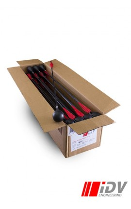 Round head larp arrow Black/Red