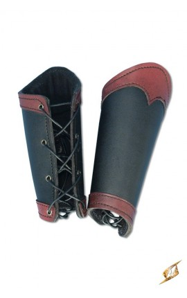 Bracers Warrior - Black/Red - L