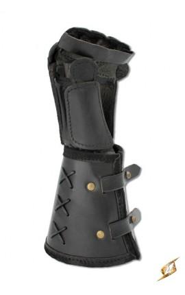 Leather gauntlet L hand - Black