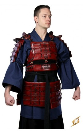 Zbroja samurajska - Czerwona - M/L