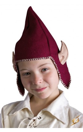Hood Elf Ears - Red - XS