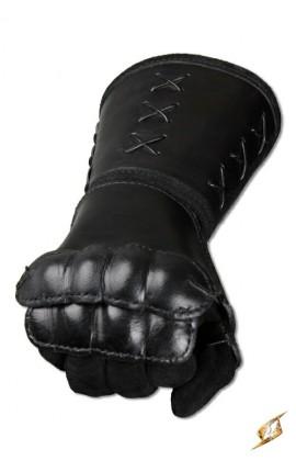 Leather gauntlet R hand - Black