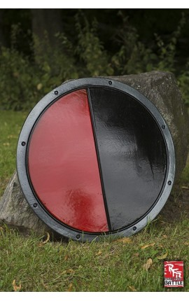 RFB Round Shield - Black - Red Shield Iron Fortress Ready-For-Battle